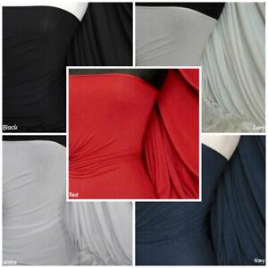 d1a55d4855 Dettagli su Pesante Viscosa Tessuto di Cotone Elastico Lycra Materiale RM896
