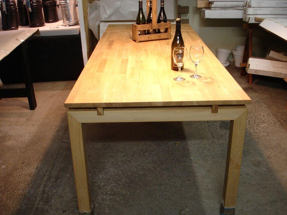 Spisebord, Massivt eg, b: 90 l: 180