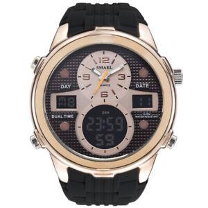SMAEL-Men-039-s-Military-Large-Face-Digital-LED-Dual-Time-Calendar-Quartz-WristWatch
