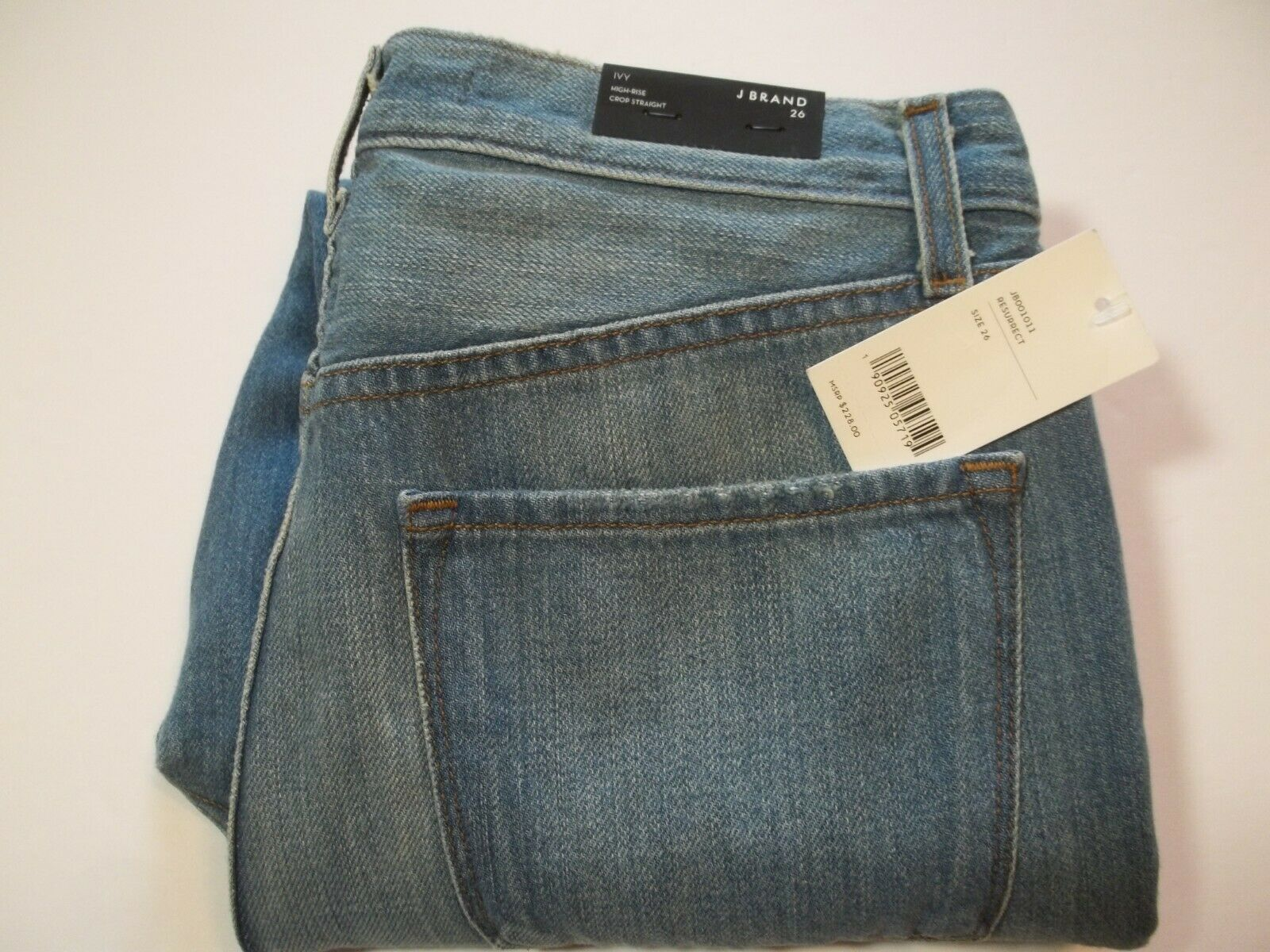 New Women's J BRAND Ivy Resurrect High Rise Crop Straight Jeans Size 26