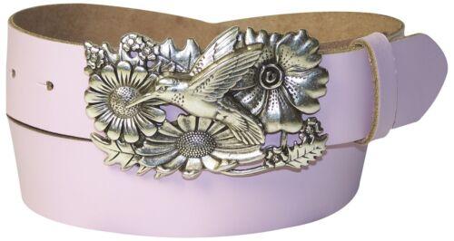 Ledergürtel Vogel Schnalle silber FRONHOFER Kolibri Damengürtel Damengürtel
