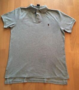 Polo-by-Ralph-Lauren-Hombre-Polo-Camisa-Top-en-Gris-Tamano-Grande