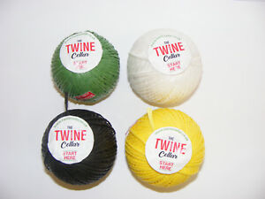 12-Twine-balls-in-Green-Yellow-Black-or-White-for-garden-or-DIY-use