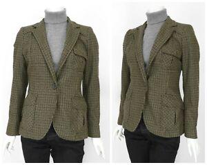 Detalles de Chaqueta Blazer para Mujer Zara Tweed Lana Caza Hacking Verde Bolsillos Comprobar Talla M ver título original