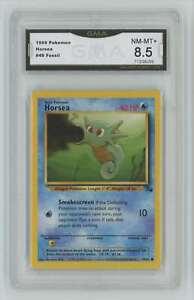 1999 Pokemon Fossil Unlimited #49 Horsea GMA 8.5 Nm-Mt+ A8