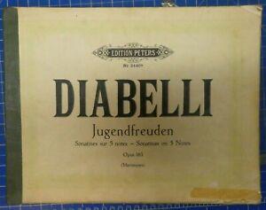 Diabelli-Jugendfreuden-Opus-163-Edition-Peters-Nr-2440a-Klavier-Noten-B-25054