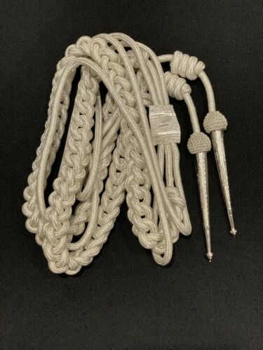 Aiguillette Silver Mylar Army Air Force Navy