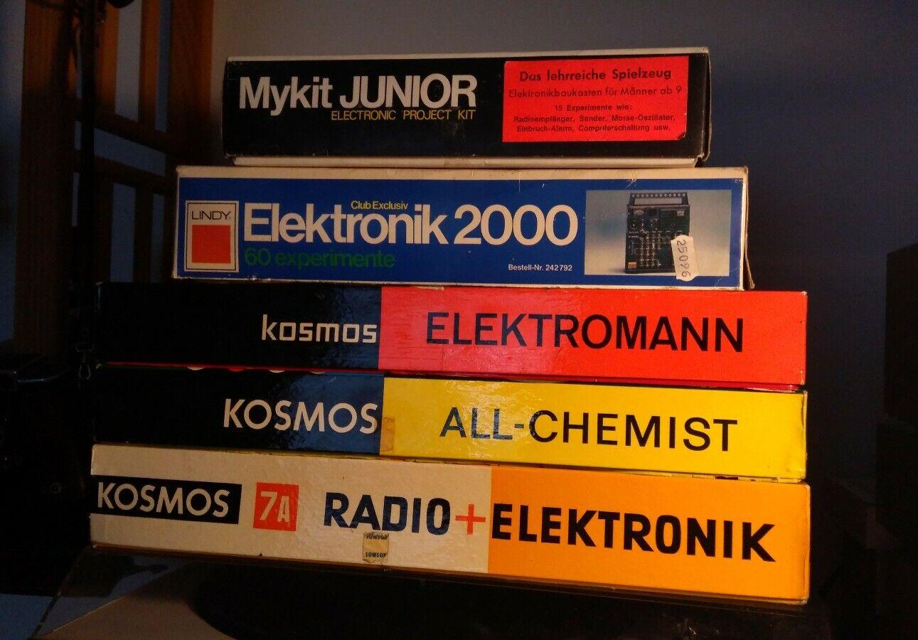 GAKKEN MYKIT JUNIOR LINDY ELEKTRONIK 2000 KOSMOS 7A ELEKTROMANN RADIO EXPERISieT