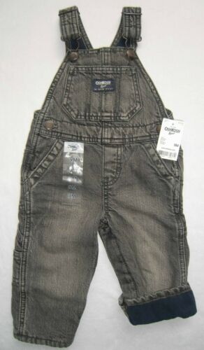 Jeans Fleece blau Thermo 68-86 NEU Oshkosh Latzhose gefüttert grau Gr