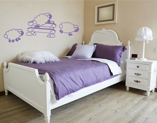 Counting Sheep - insomnia highest quality wall decal stickers