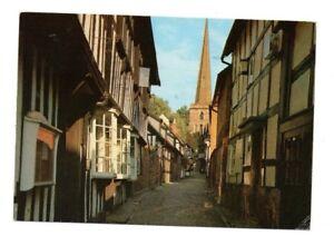 Herefordshire-Ledbury-Church-Lane-Postcard-Franked-1989