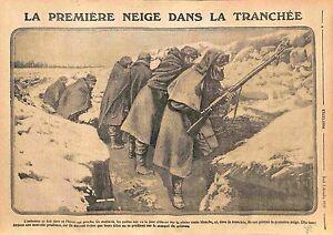 """Infanterie Poilus Tranchées Hiver Bataille de l'Artois Lorettoschlacht WWI 1915 - France - Commentaires du vendeur : """"OCCASION"""" - France"""