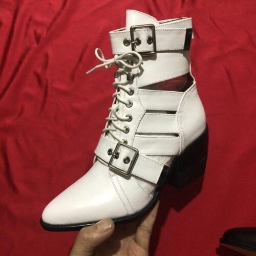 Ankle lacets boucle bout pointu Women Med Pump Hot Oxford à Vogue Talons Chaussures et QBorWCedxE