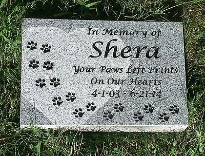 "Pet memorial head stone grave marker- 2"" granite custom engraved to your needs"