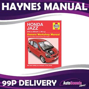 honda jazz 1 2 1 4 petrol hatch 02 08 51 to 08 reg haynes manual rh ebay co uk honda fit jazz repair manual honda jazz service repair manual