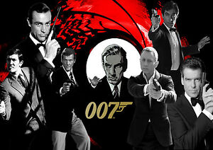 A1 - A5 SIZES AVAILABLE JAMES BOND MOVIE COLLECTION WALL ART POSTER