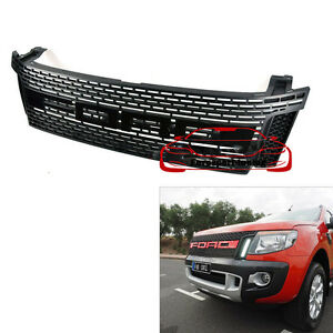 raptor front hood grille grill for ford ranger awd cab t6. Black Bedroom Furniture Sets. Home Design Ideas