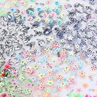 50pcs Sheets 3D Design Nail Art Sticker Tips Decal Flower Manicure Stickers FD
