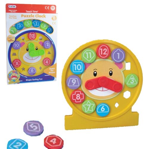 Colourful  Puzzle Clock Baby Educational Toys Age 18 Months
