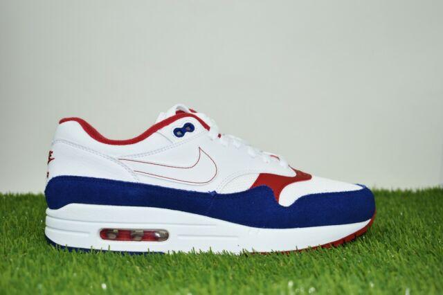 Nike Air Max 1 USA Size 8 Men Running White Red Deep Royal Blue CJ9927 100