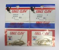 Eagle Claw Classic Aberdeen Hooks Gold Size 2 202ela 2 Pack 3gg