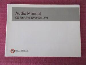 vauxhall cd 70 navi dvd 90 navi sat nav navigation handbook vectra rh ebay co uk