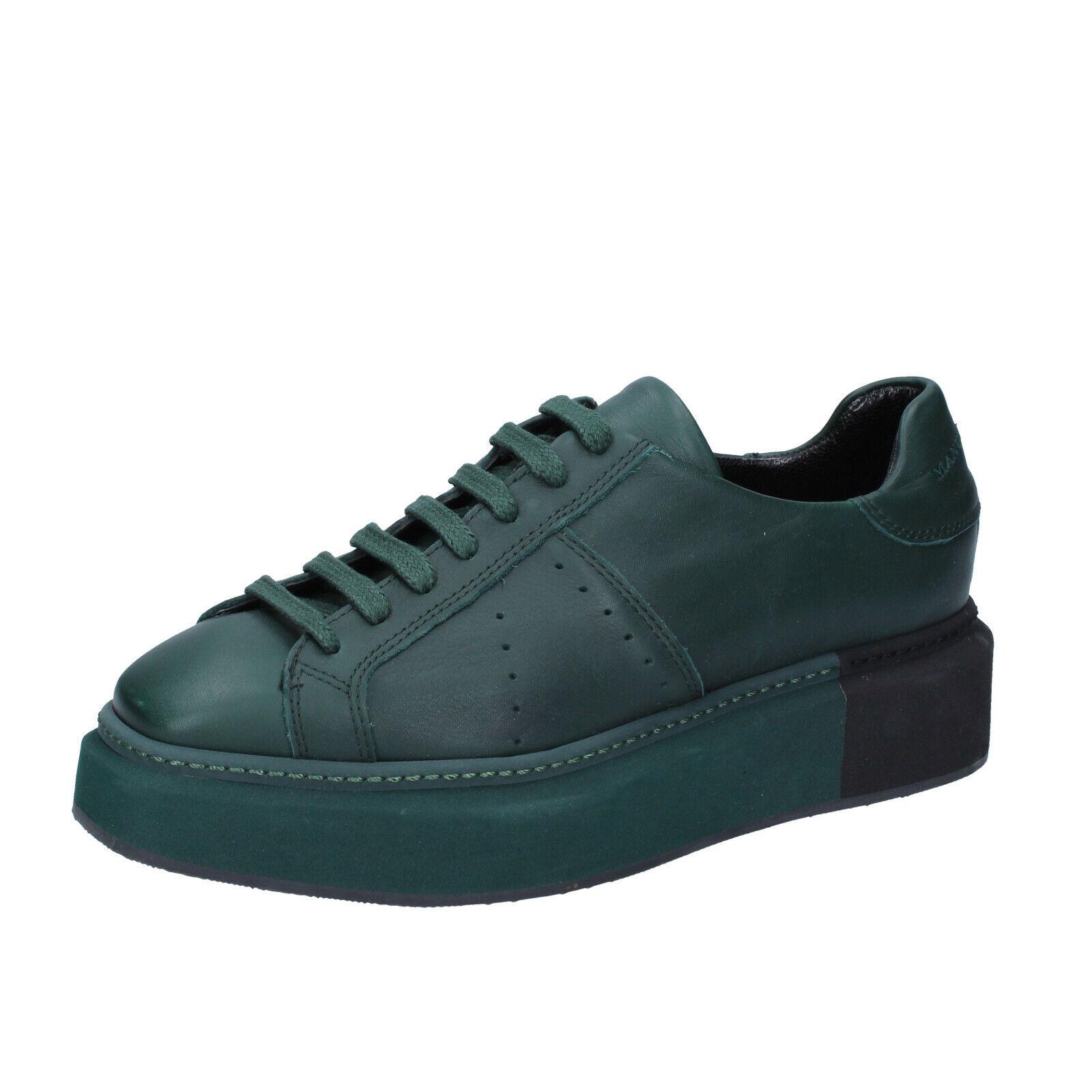 Scarpe da  donna MANUEL BARCELO 4 (UE 37) scarpe da ginnastica in pelle verde BS329 -37  alla moda