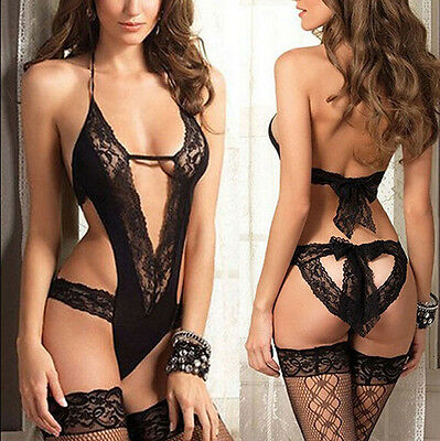 Hot Women Sexy Babydoll Lingerie Lace Dress Underwear Sleepwear G-string Gift E8