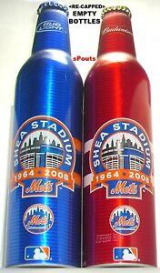 Details about 08 SHEA STADIUM NEW YORK METS BASEBALL BUDWEISER+BUD LIGHT  BEER ALUMINUM BOTTLES