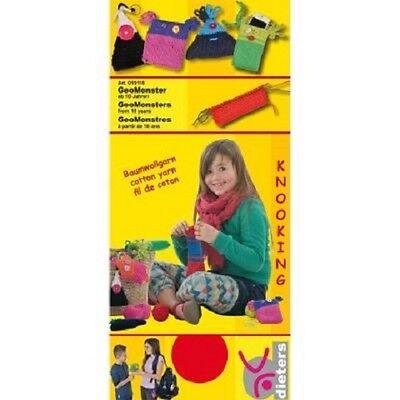 Knooking Clear-Cut-Textur Spielzeug Basteln & Kreativität Dieters 019118 Geomonster