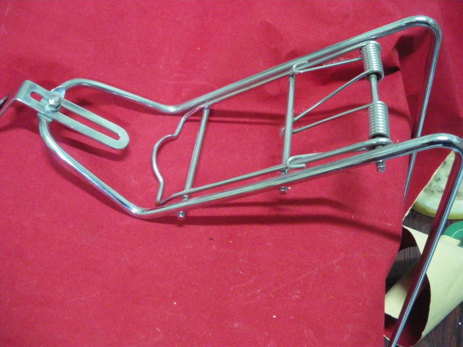 """Vintage Bicycle Rear Rack Carrier Chromium Steel for 26/"""" W 1970s for Raleigh NOS"""