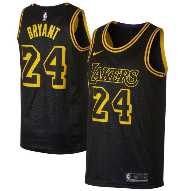 pretty nice c0b60 be0c1 New 2018 Nike NBA Los Angeles Lakers Kobe Bryant 24 City Edition Swingman  Jersey