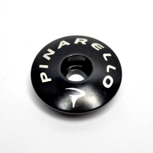 PINARELLO HEADSET TOP STEM COVER CAP BLACK GLOSSY FINISH