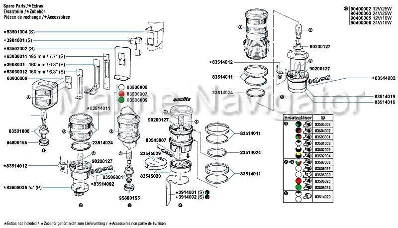AQUASIGNAL Ersatzglas GRUN für für für Aquasignal 40 1baaf9