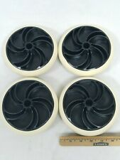 Lot Of 4 6 Inch Plastic Wheels For Casters New