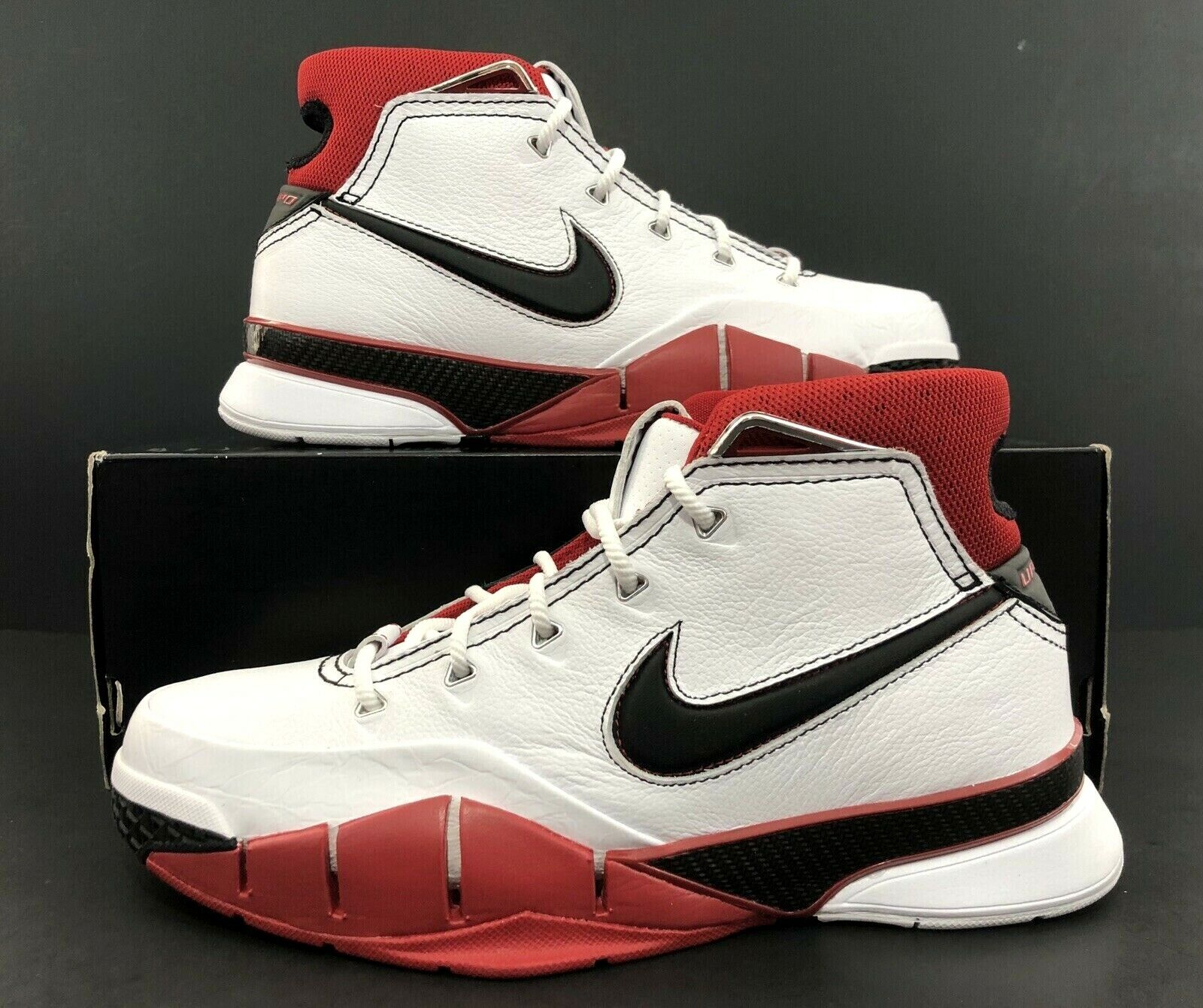 new concept 4345f d49b1 Nike Kobe Kobe Kobe 1 Predro All Star White Varsity Red AQ2728-102 Men s  Size