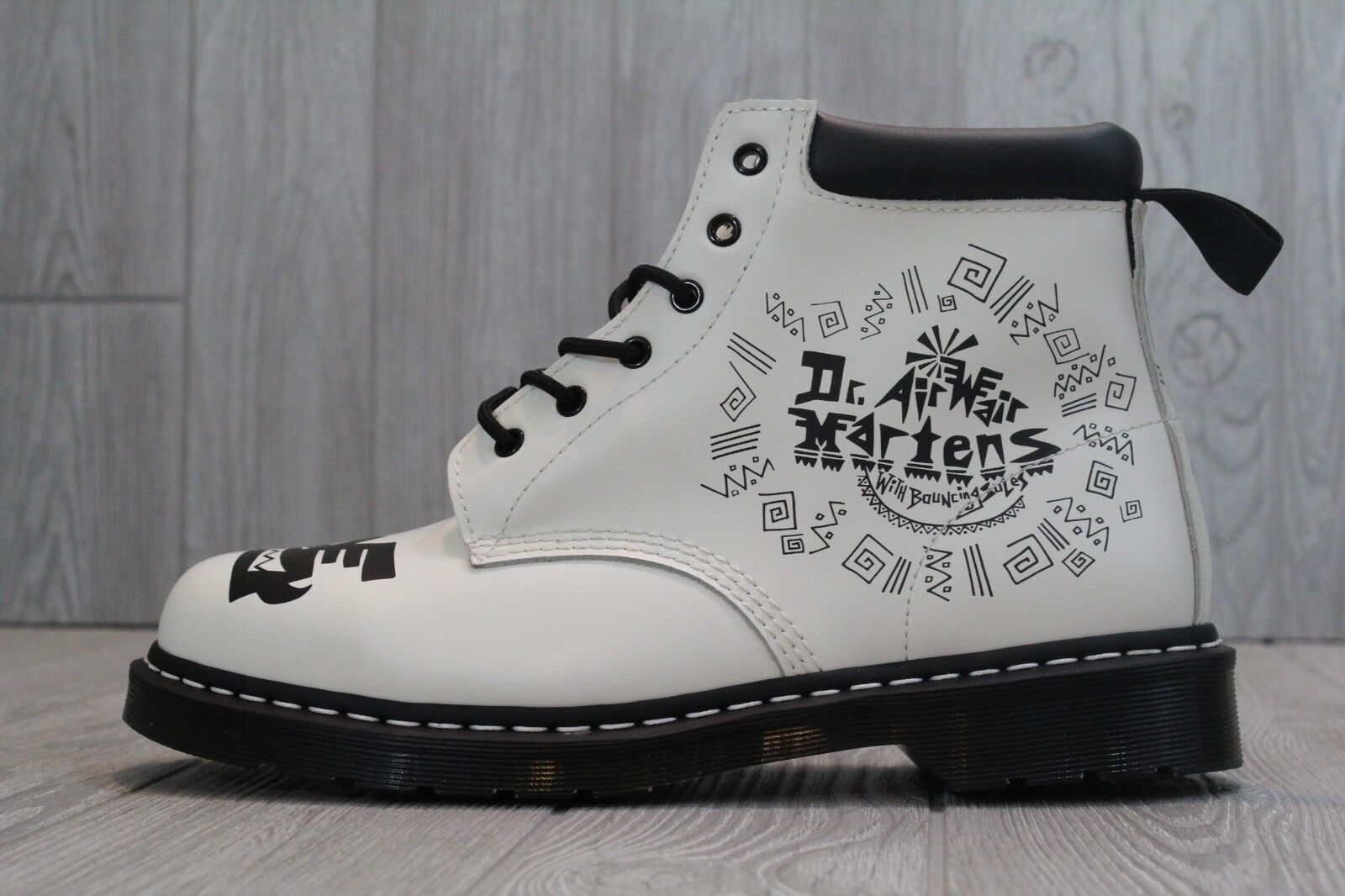 31 RARE Dr Martens Mark Wigan Aztec Global Effect 939 Boots Men's US 13 White
