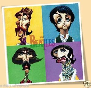 The Beatles Print Poster Comic Cartoon John Lennon Paul Macartney George Ringo Ebay