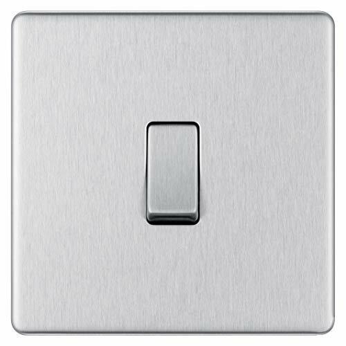 BG électrique Screwless Plaque Simple Interrupteur De Lumière 2-Way, Acier brossé