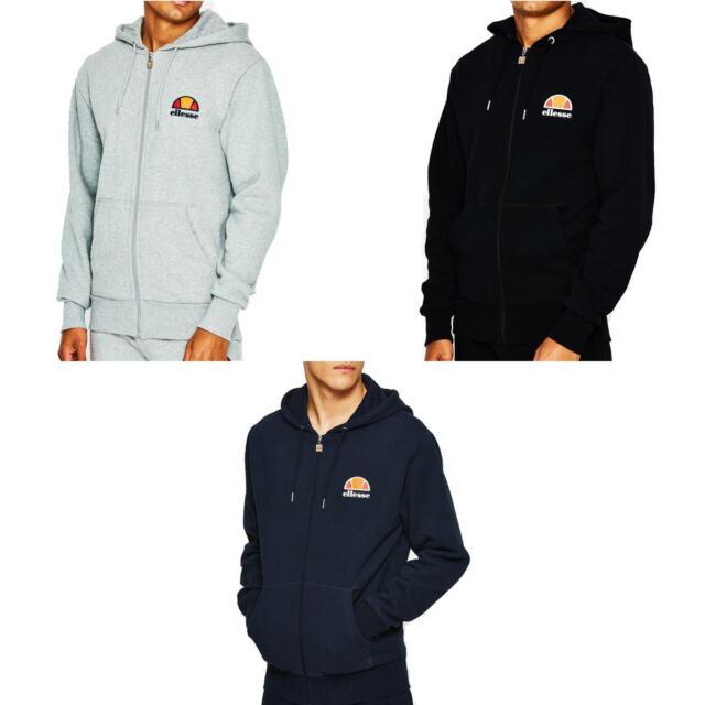 c6b99e97c0 Ellesse Miletto Zip Hoody Top Tracksuit Sweatshirt Jumper Overhead Fleece  Jacket
