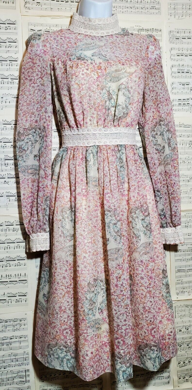 Vintage 1960s 1970s Unbranded Gunne Sax Style Wom… - image 6