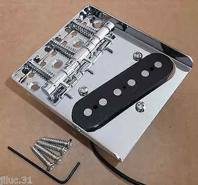 NEW Bridge + pickup TELECASTER  3 saddles pour guitare TELE