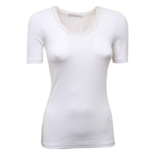 shirt White Bianco D1398 Fabiana Maglia T Woman Filippi Donna Ricamo TqTf18xw