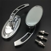 Oval Shape Custom Chrome Mirrors Fit Honda Cbr600 900 929 954 1000rr