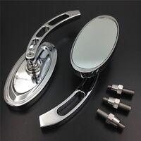 Oval Shape Custom Chrome Mirrors Fit Honda Cbr600 900 929 954 1000rr