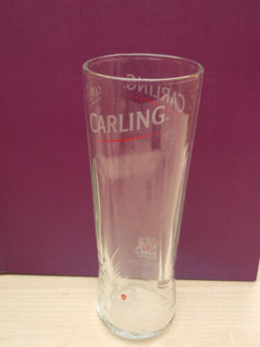 Carling lager tall half pint glass