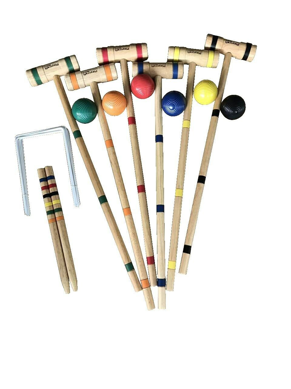 Playcraft Sport Deluxe Hardwood Croquet Set
