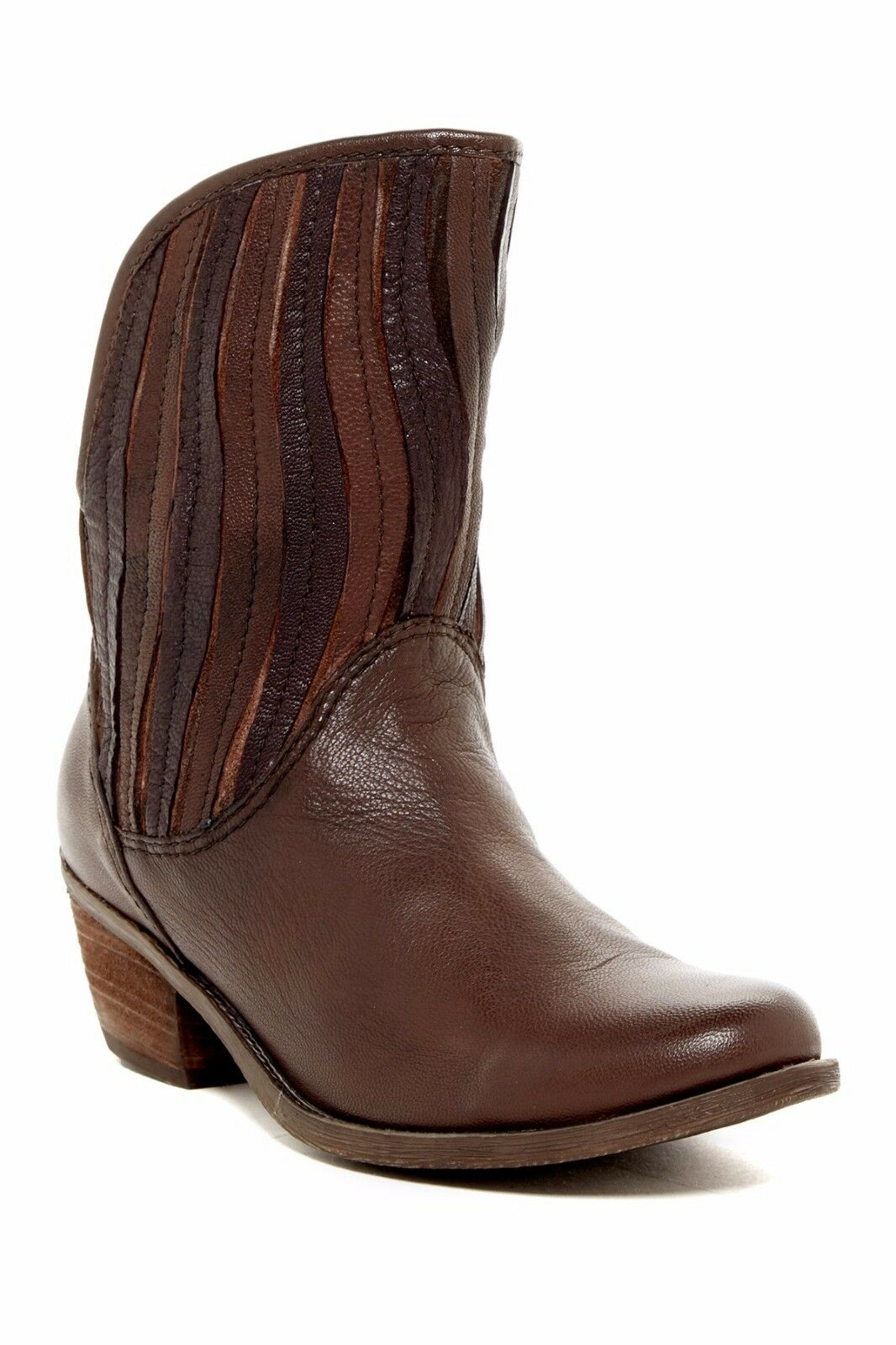 New Sheridan Mia SWAY Stiefel Stiefel Stiefel Sz 37 Striped Art Shaft Leather braun Combo  245 NIB 7bf452