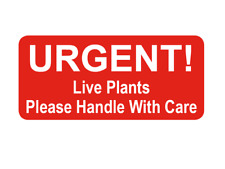 Urgent Live Plants Small Red Packing Stickers Sticky Labels