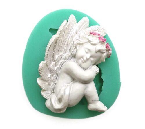 Cupid Angel Silicone Fondant Chocolate Sugarcraft Cake Clay Mold Baking Tool DIY